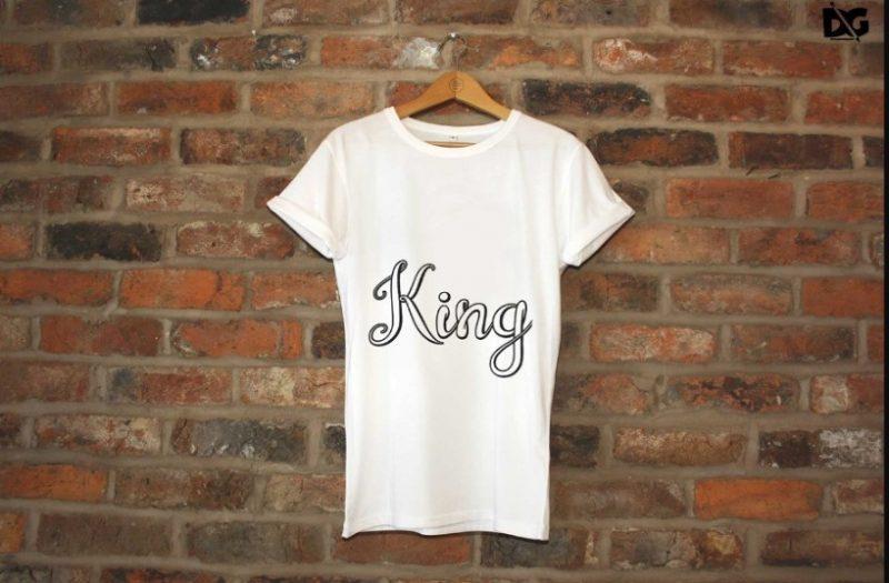 Free Hanging White T Shirt Mockup PSD