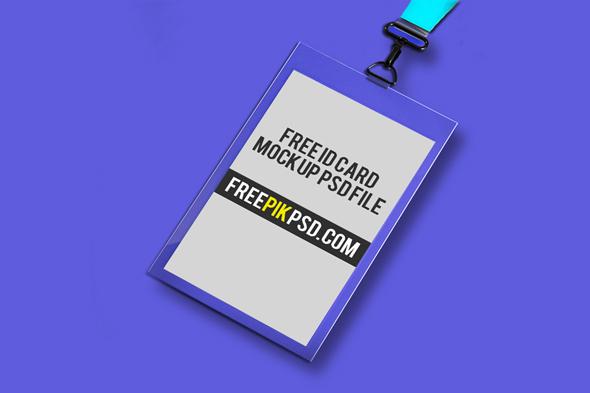 Free ID Card Holder Mockup PSD