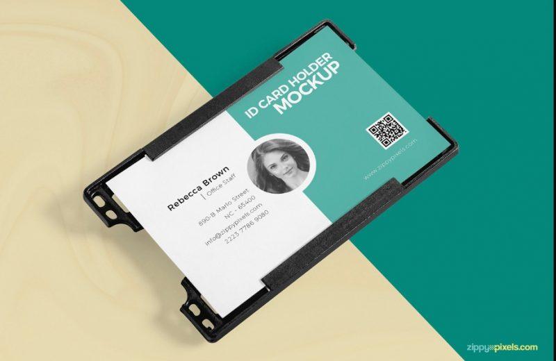 Free Identity Card Holder Mockup