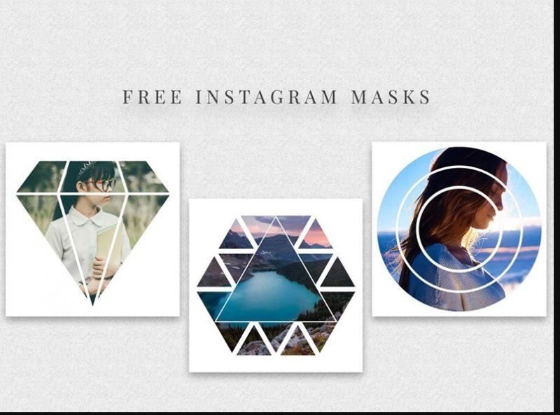 Free Instagram Masks Mockup