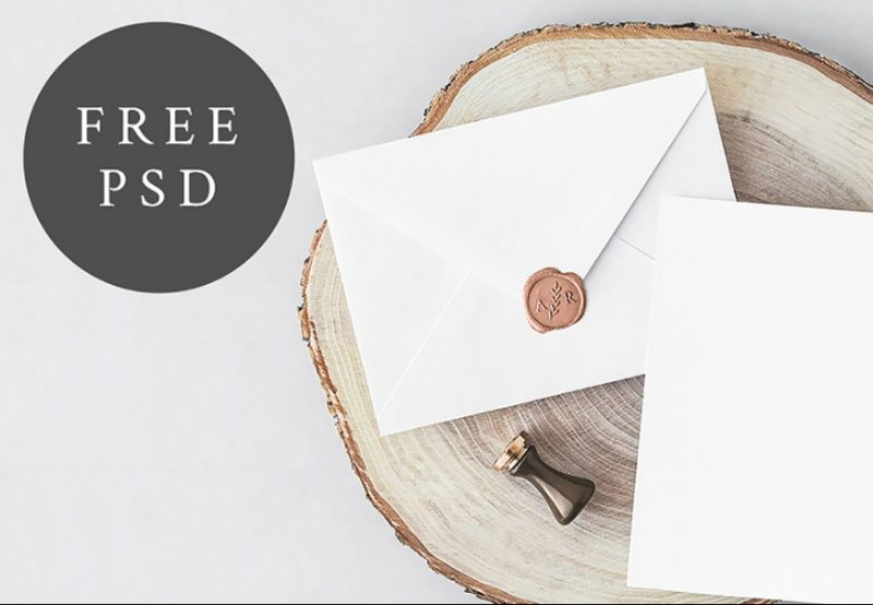 Free Invitations Card Mockup PSD