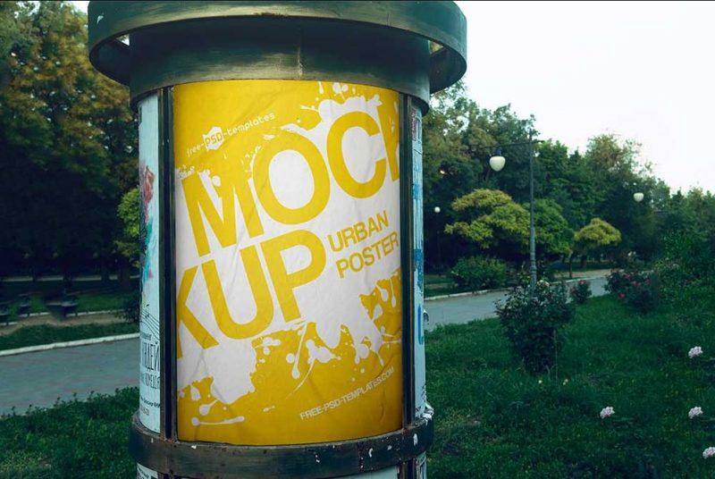 Free Urban Poster Mockup Bundle