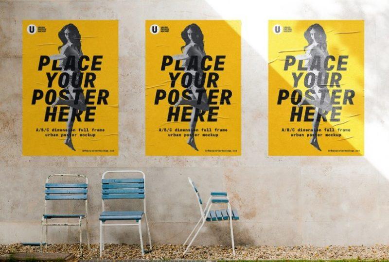 Free Urban Poster Mockup PSD