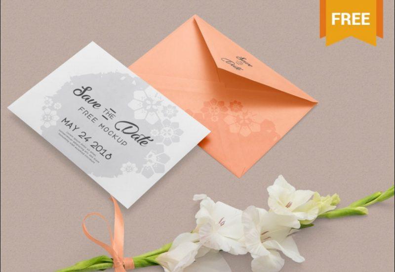 Free Wedding Card Mockup PSD
