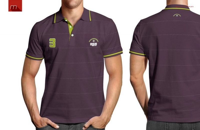 Front and Back Polo Shirt Mockup