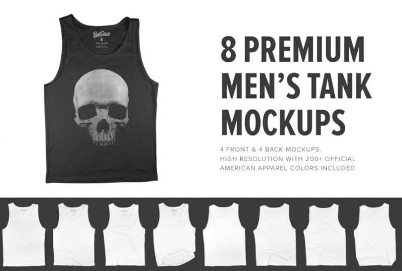 Front and Back Tank Mockup PSD