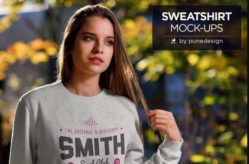 Fully Layered Sweatshirt Mockups