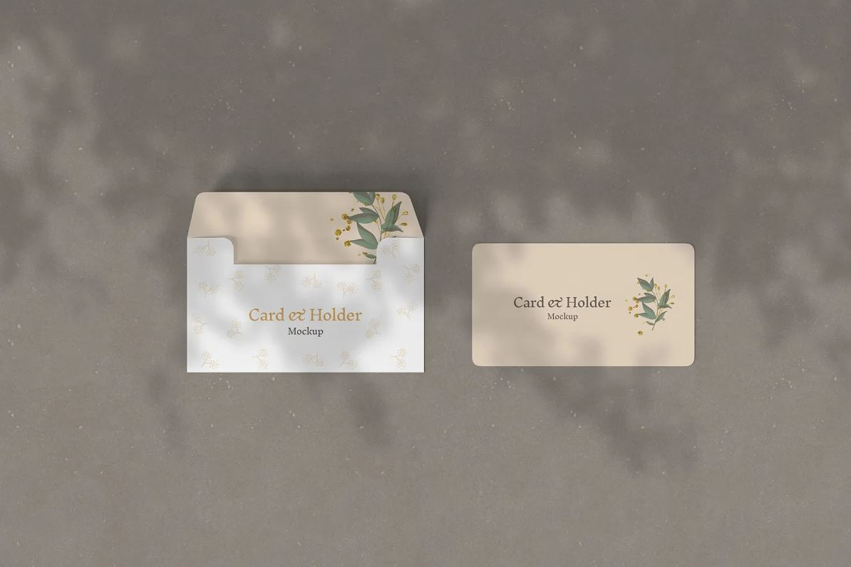 Gift Card and Holder Mockup