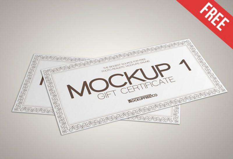 8 Professional Gift Voucher Mockup Psd Free Download Graphic Cloud