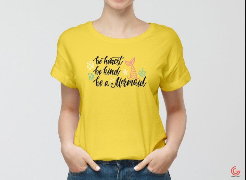 Girls T Shirt Mockup Free