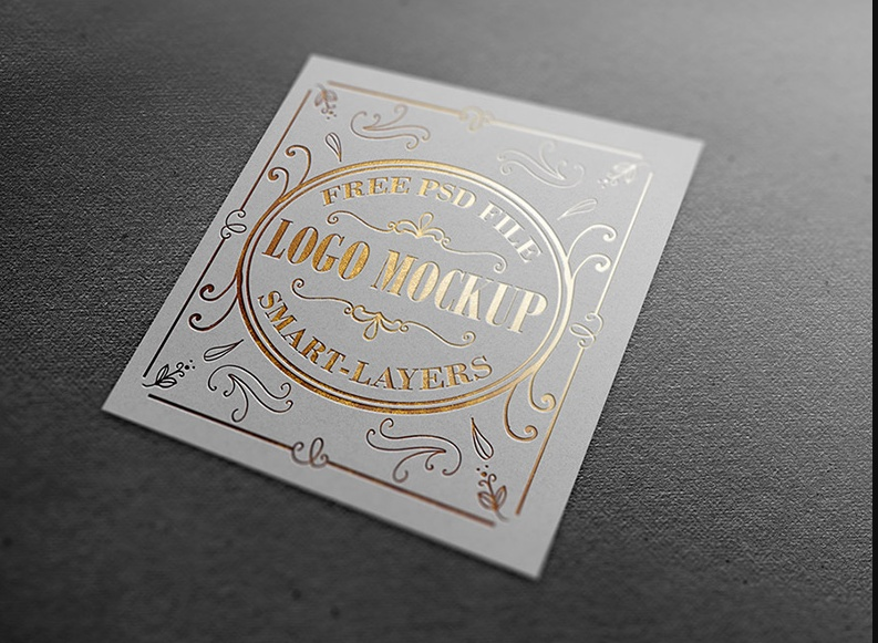 Gold and Silver Foil Mockup PSD