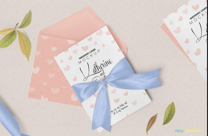 Gorgeous Wedding Invitation Mockup