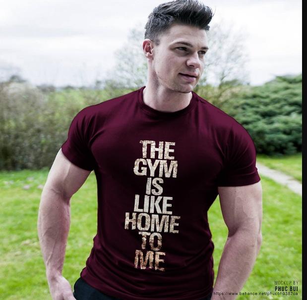 Gym T Shirt Mockup PSD