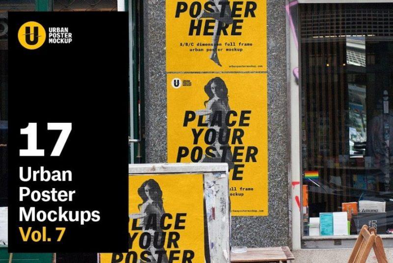 High Defination Urban Poster Mockup