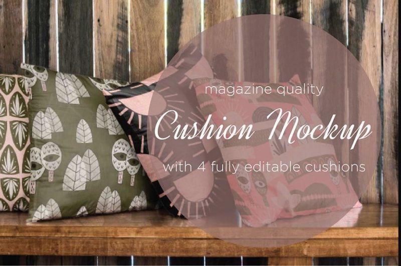 High Quality Cushion Mockup PSD