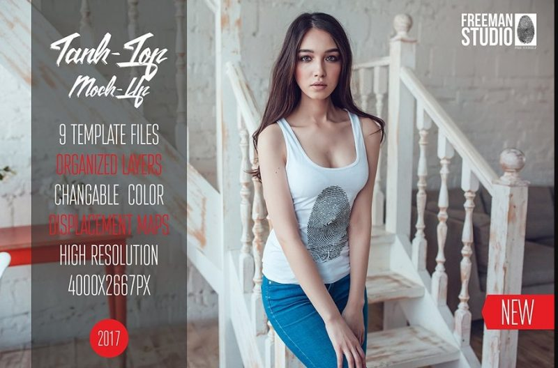 25+ Tank Top Mockup PSD Free Download