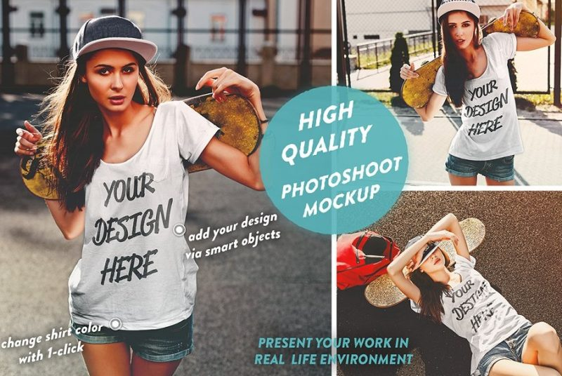 High Quality Girls T Shirt Mockup