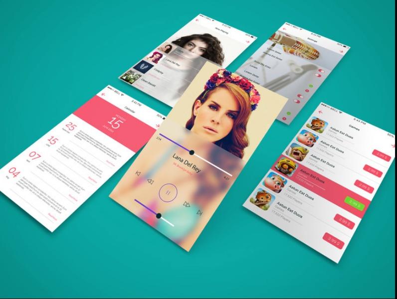 High Resolution App screen Mockup