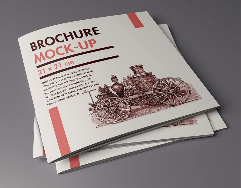 High Resolution Brochure Mockup PSD