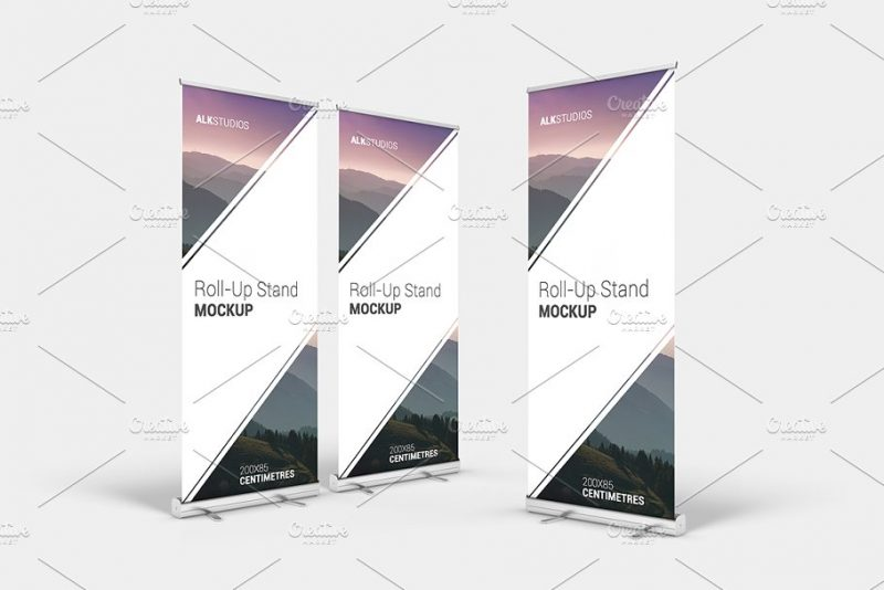 High Resolution Roll Up Banner Mockup