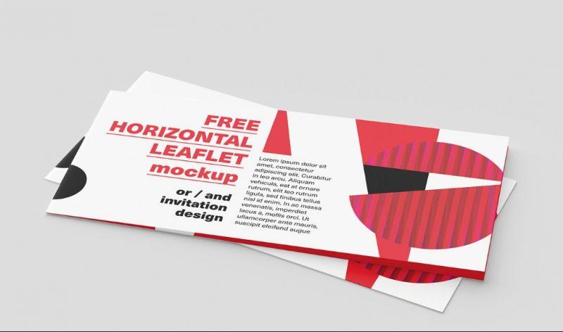 Horizontal Leaflet Mockup PSD Free