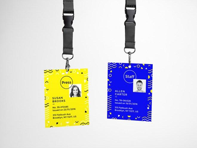 ID Card Presentation Mockup PSD