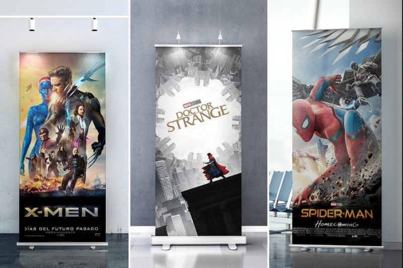 Indoor Roll Up Banner Mockup