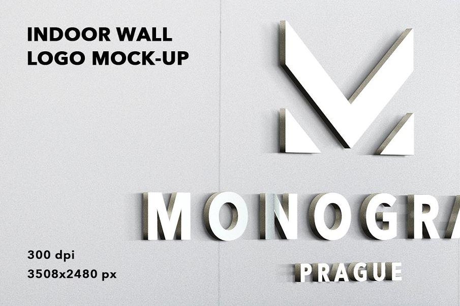 Indoor-wall-logo-mockup-badge