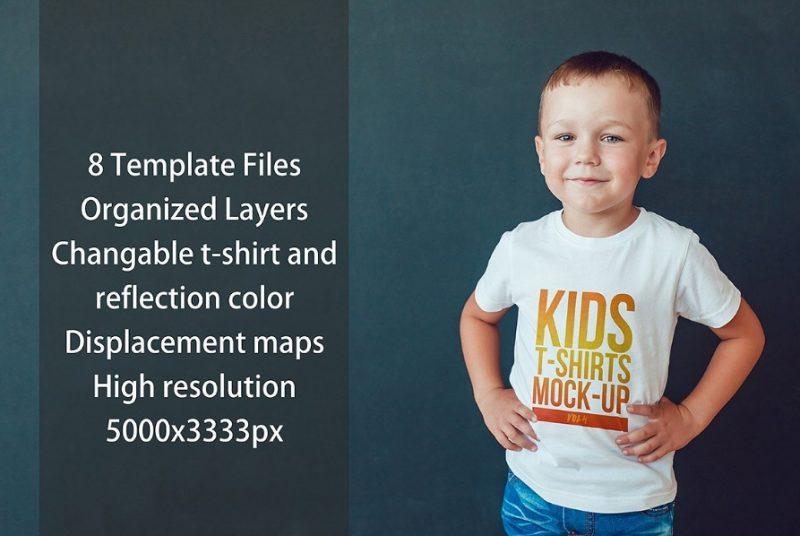 Kids T Shirt Mockup PSD