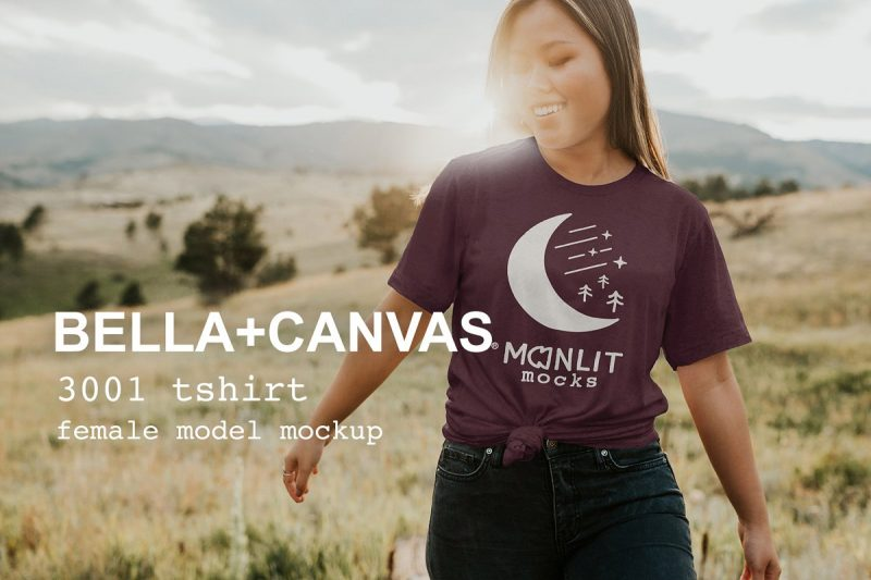 Knotted T Shirt Mockup PSD