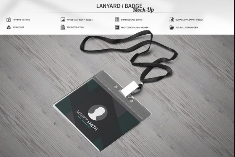 Lanyard Badge Mockup Set