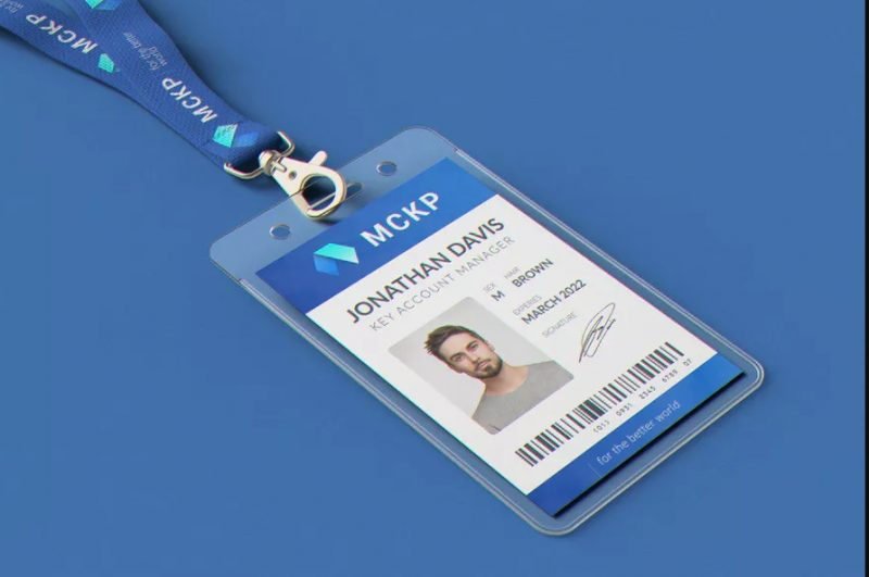 Lanyard ID Card Mockup