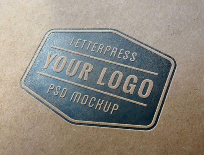 Layered Embossed Logo Mockup