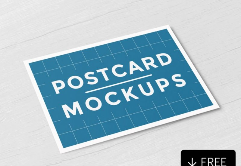 Layered Postcard Mockup PSD