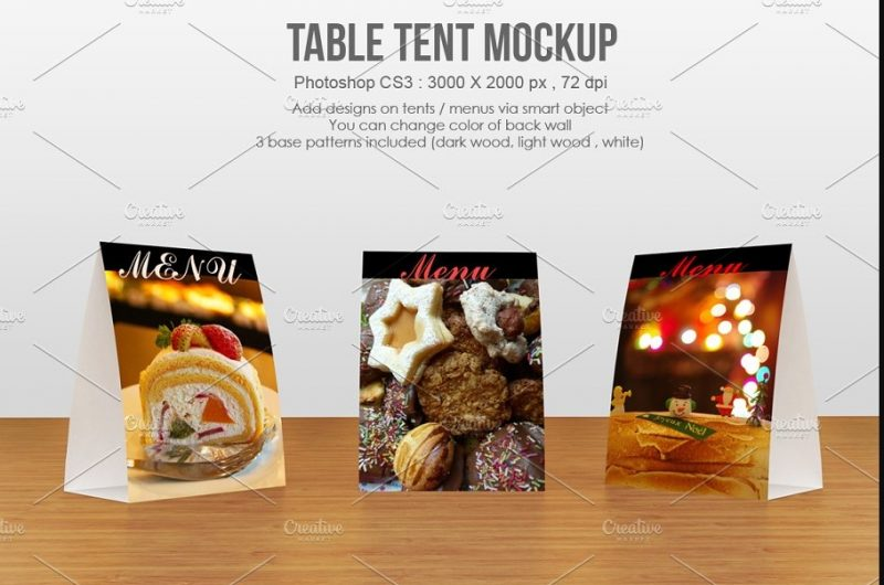 Layered Table Tent Mockup