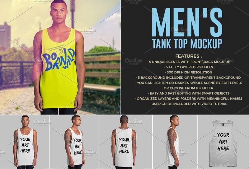 Layered Tank Top Mockup PSD