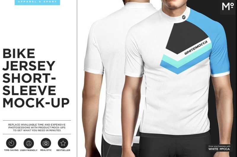 Layered White T Shirt Mockup PSD