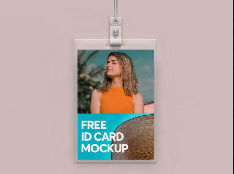 Minimal Free ID Card Mockup