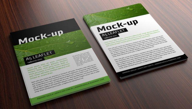 Minimal Leaflet Mockup PSD