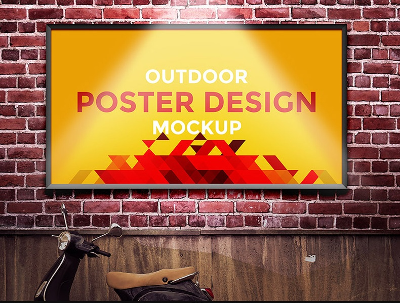 Minimal Free Outdoor Poster Mockup