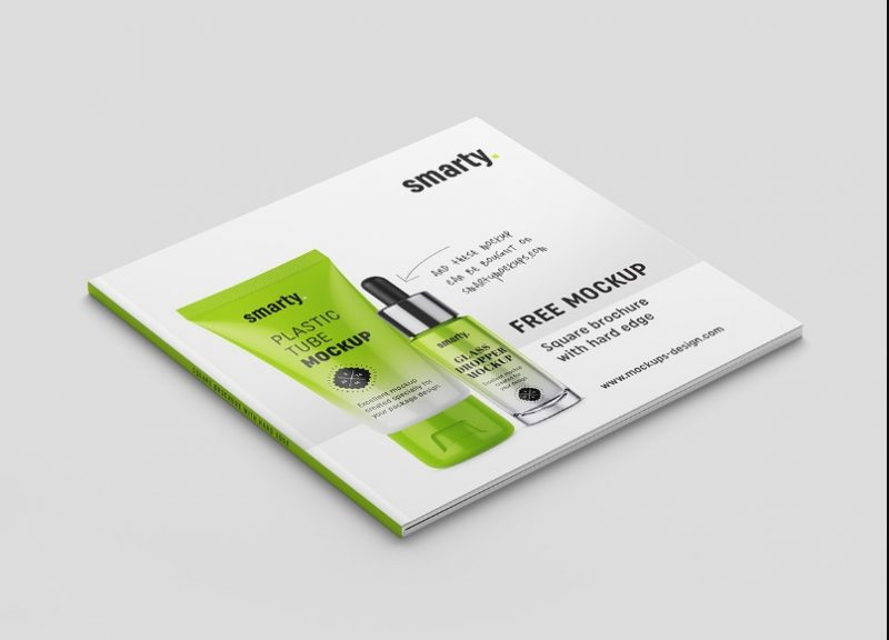 Minimal Square Brochure Mockup