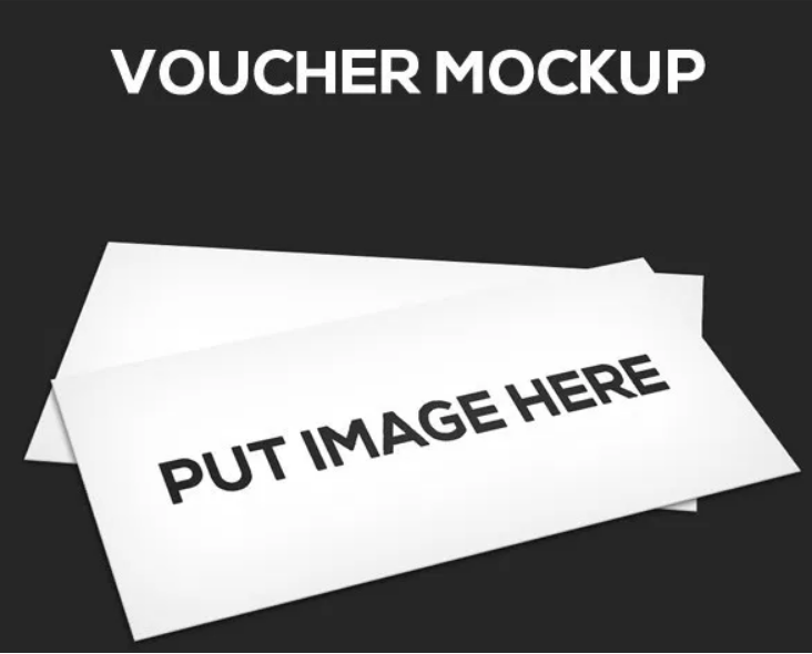 Minimal Voucher Mockup PSD