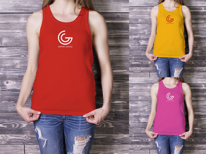 Mockup for Girls Tank Top