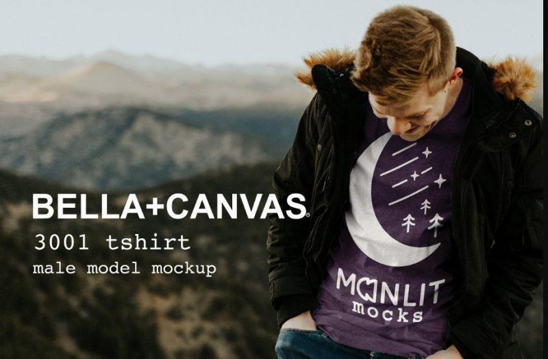 Model T Shirt Mockup PSD