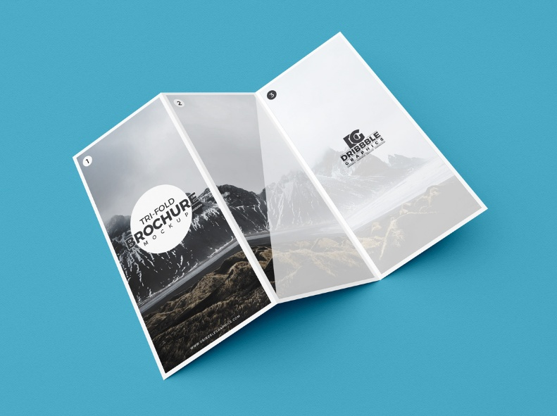 Modern Tri Fold Brochure Mockup
