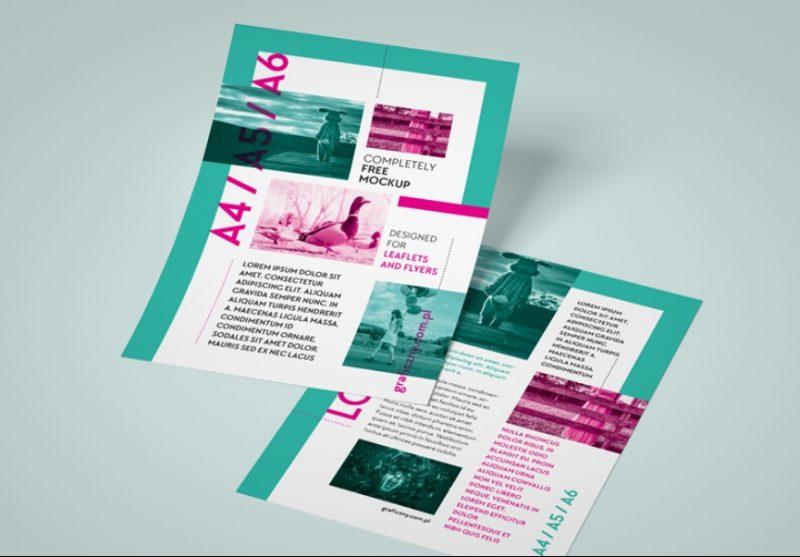 Multi Size Leaflet Mockup PSD
