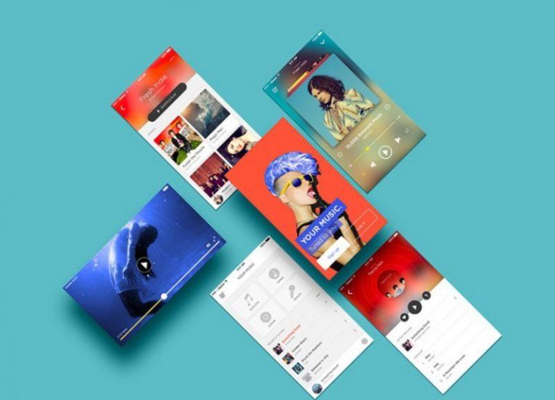 Multiscreen App Mockup PSD