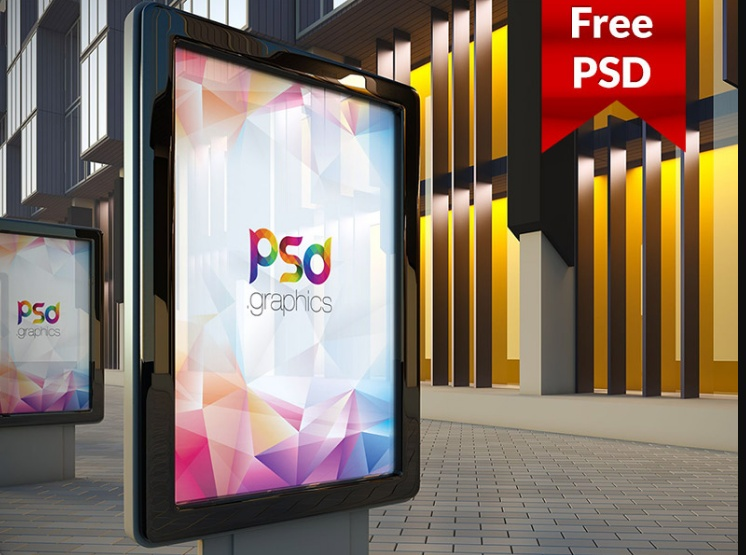 Free Outdoor Billboard Poster Mockup PSD