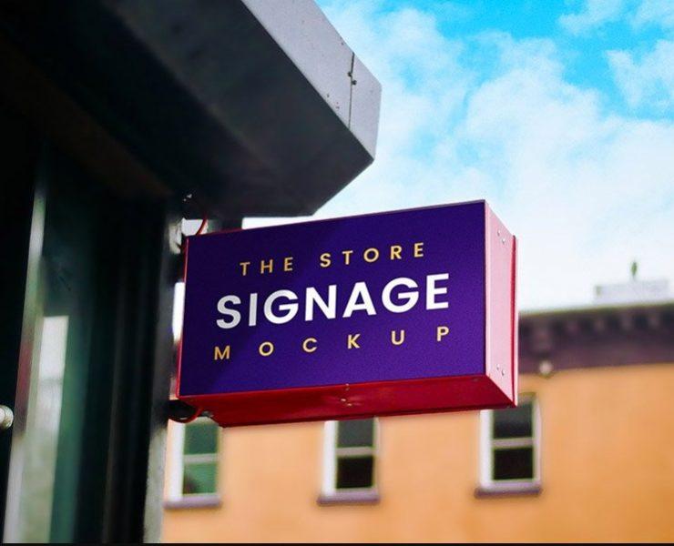 15+ Signage Mockup PSD Free Download for Branding