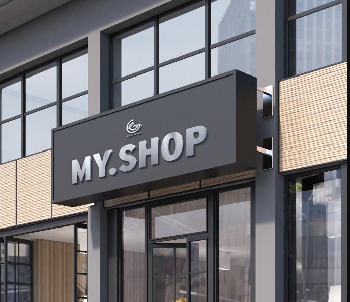 PSD Shop Facade Mockup PSD